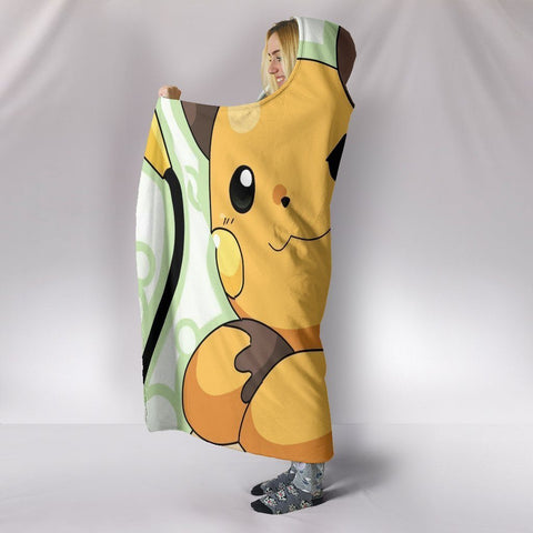 Image of Pokemon Hooded Blankets - Pokemon Raichu Pikachu Hooded Blanket
