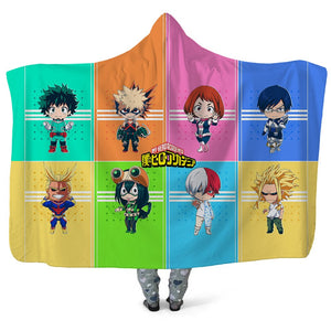 My Hero Academia Hooded Blankets - Funny Team Boku no Hero Academia Hooded Blanket