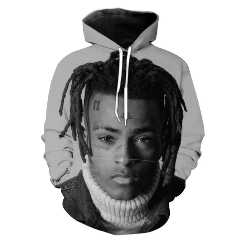 Black and White XXXTentacion Hoodie - XXXTentacion Clothes