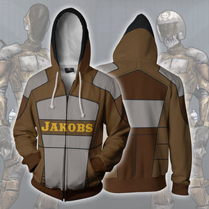 Borderlands Jakobs Hoodies - Zip Up Brown Hoodie