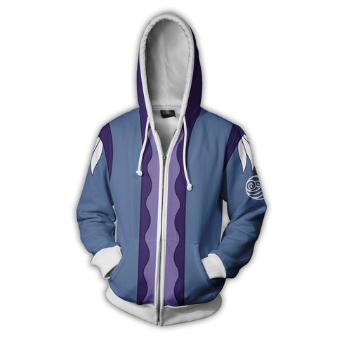Avatar: The Last Airbender Katara Hoodies - Zip Up Blue Hoodie