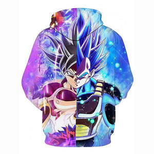 3D Printed  Dragon Ball Character Goku Hoodie - Hooded Casual Loose Pullover