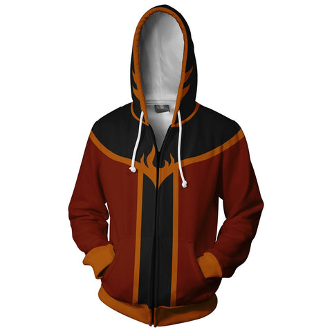Avatar: The Last Airbender Zuko Hoodies - Zip Up Hoodie