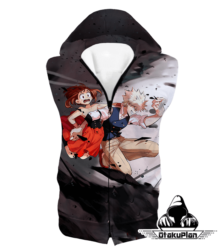 My Hero Academia U.A High Students Bakugo and Uraraka Hoodie MHA002