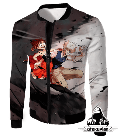 Image of My Hero Academia U.A High Students Bakugo and Uraraka Hoodie MHA002