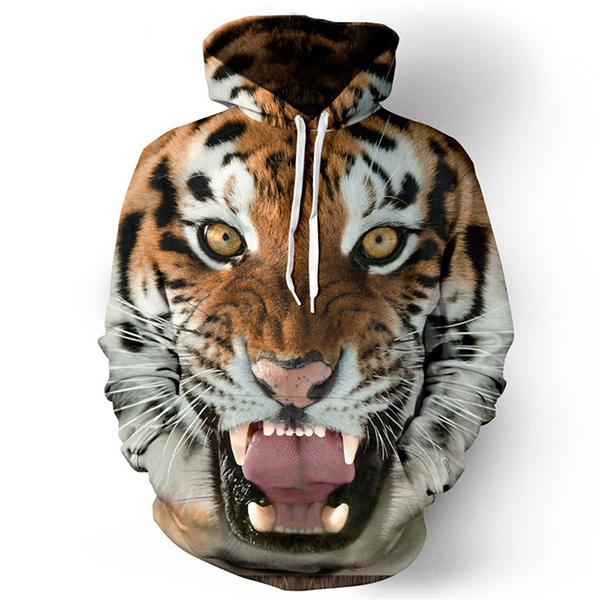 3D Tiger Lion plus size men women pullovers