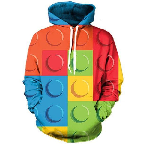 Image of Men/Womens Lego Block Hoodie