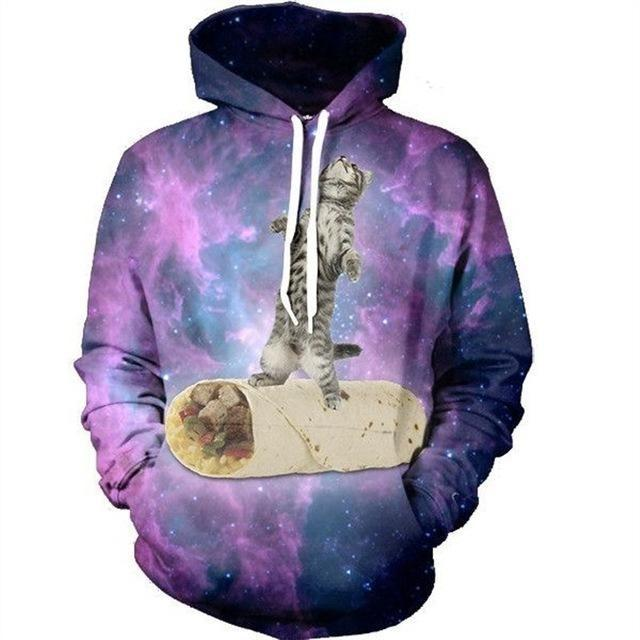 Mens/Womens Cat Galaxy Hoodie