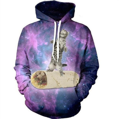 Image of Mens/Womens Cat Galaxy Hoodie