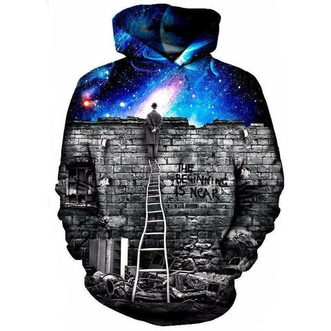 Image of Night Sky Wall Hoodie
