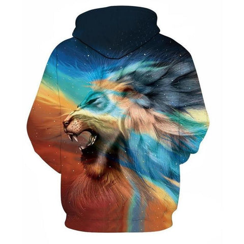 Image of Unisex Light Prism Lion 3D Printed Hoodie
