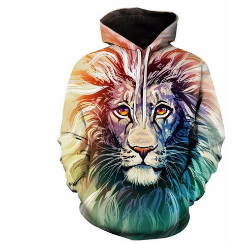 Image of Unisex Ancient Lion Streetwear 3D Printed Hoodie