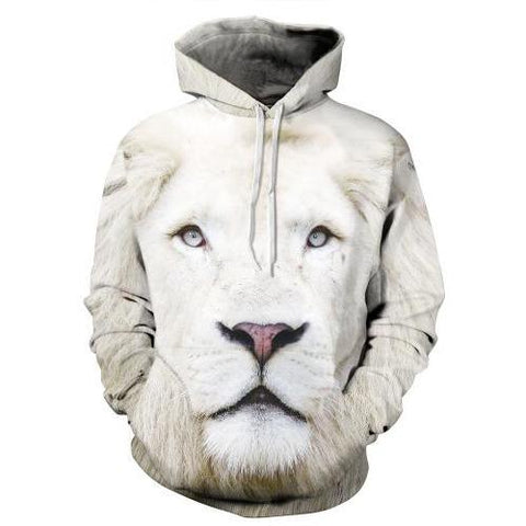 Image of White Lion 3D Printed Hoodie