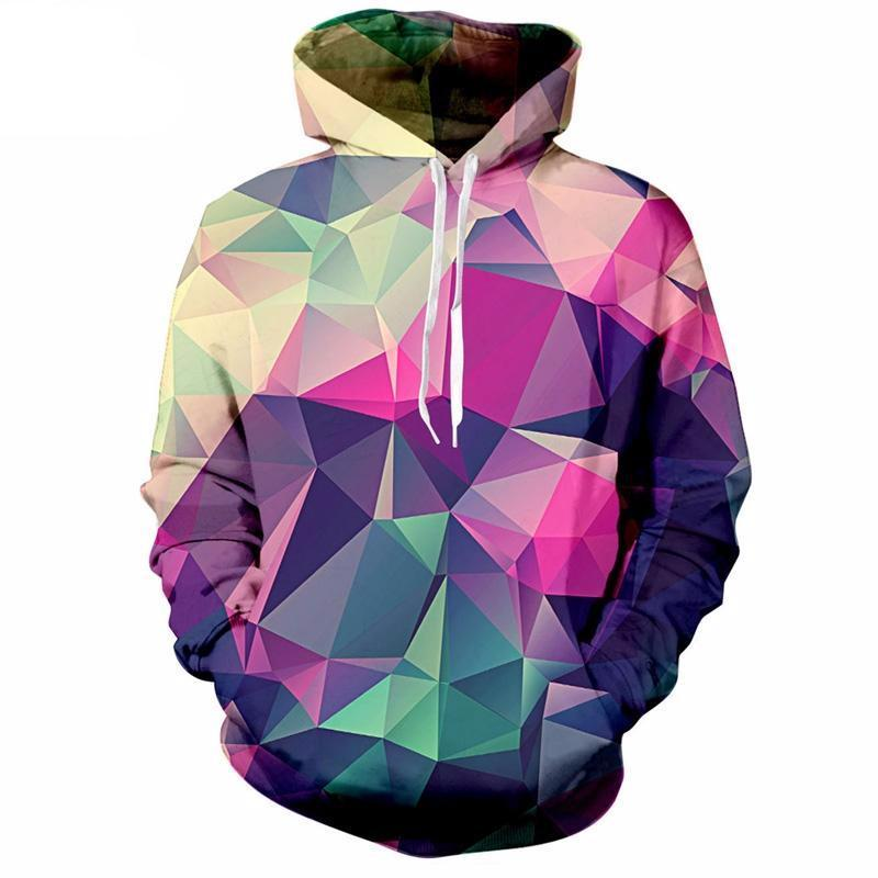 Colourful Triangles Hoodie