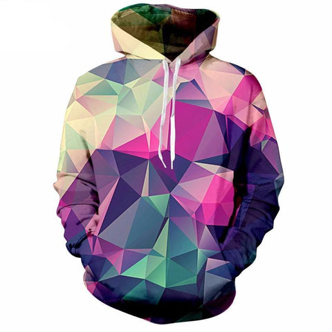 Image of Colourful Triangles Hoodie