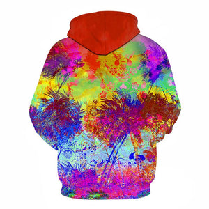 Colourful Flower Art Hoodie