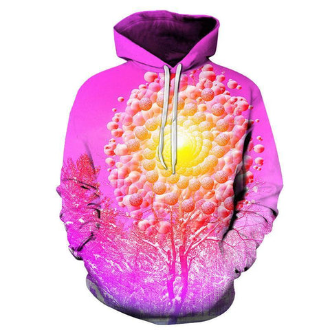 Image of 3D Sunset Tree Hoodie