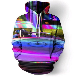 Rainbow Record Player Hoodie