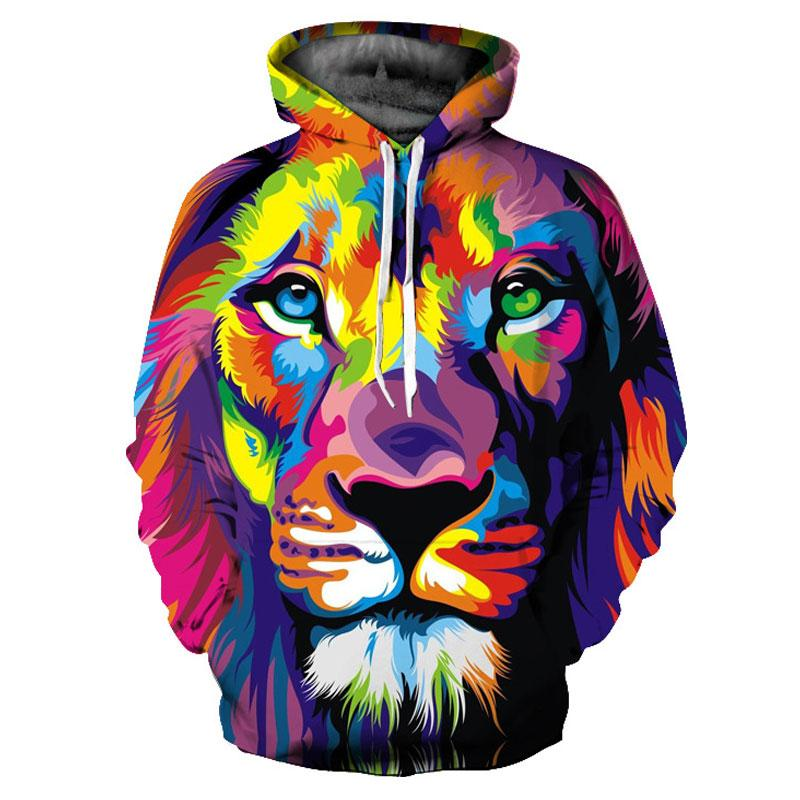 Multi Coloured Lion Hoodie