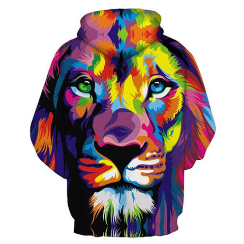 Image of Multi Coloured Lion Hoodie