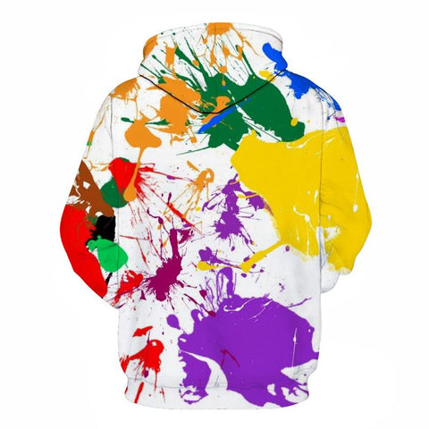 Image of Paint Splash Art A Hoodie