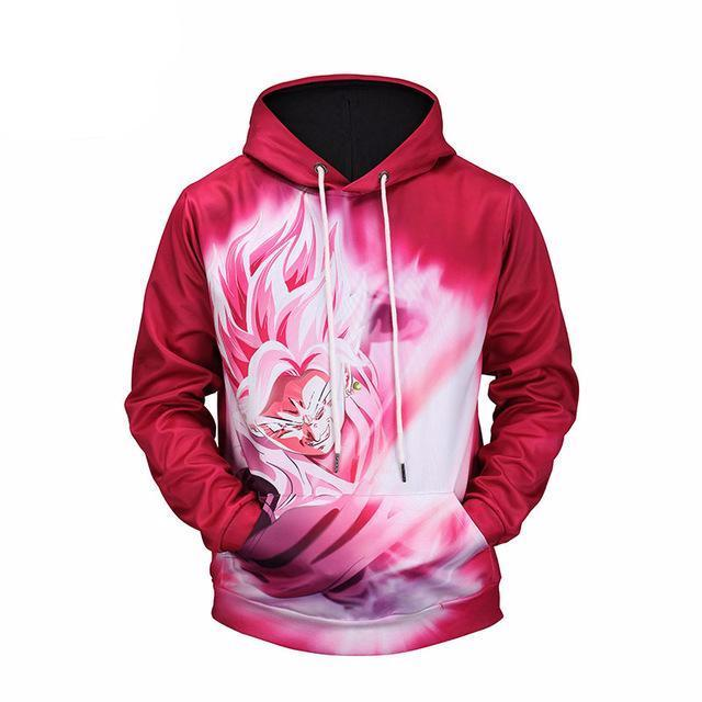 Mr.1991 Red Anime Dragon Ball Z 3D Printed Hoodie