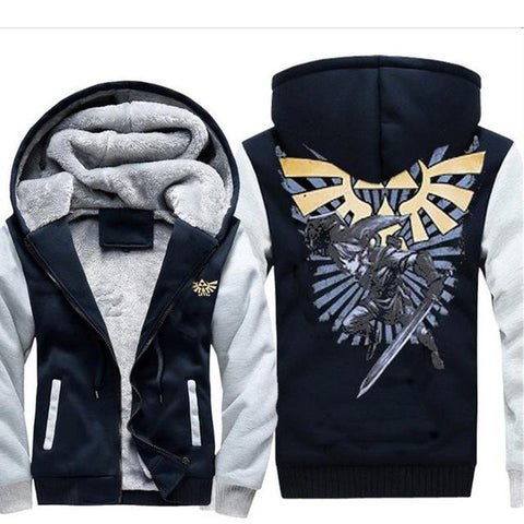 Image of The Legend of Zelda Hoodies - Breath of the Wild Mens Zipper Hoodie