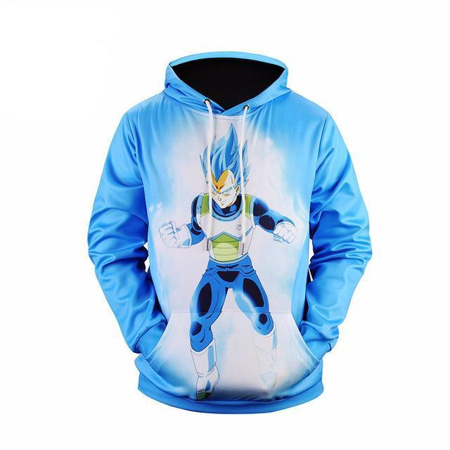 Mr.1991 Dragon Ball Z Blue 3D Printed Hoodie