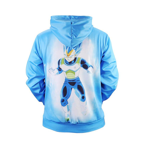 Image of Mr.1991 Dragon Ball Z Blue 3D Printed Hoodie