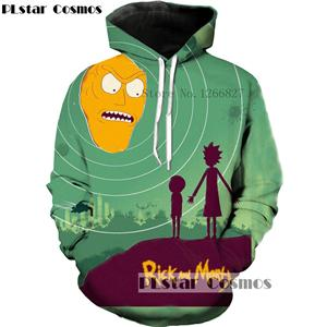 3D Rick and Morty Cartoon Hoodie