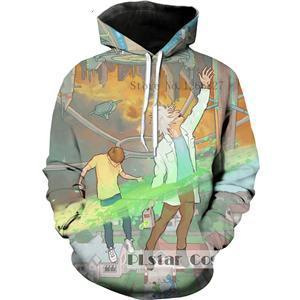 3D Hoodie Cartoon Rick and Morty