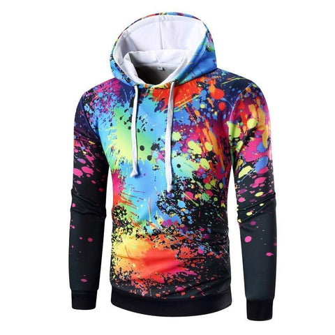 Image of Dark Paint Splash Urban Hoodie