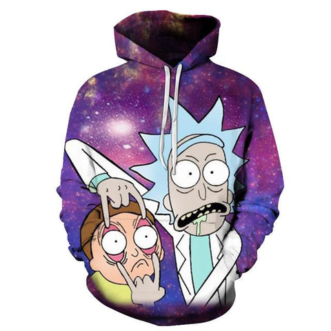 Image of 3D Hoodies Sweatshirts Rick And Morty