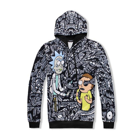 Image of Rick And Morty 3D Print Hoodie