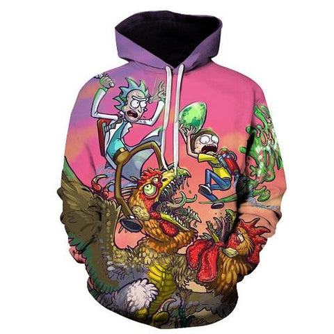 Image of Rick and Morty Hoodie Sweatshirt