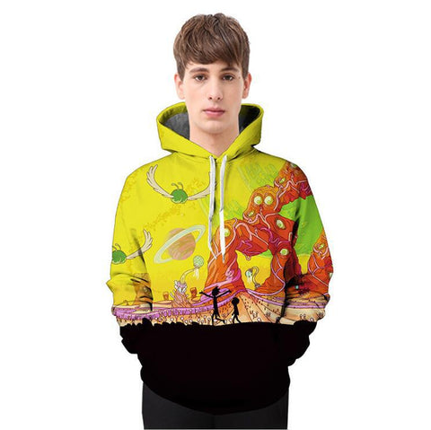 3D Hoodie Rick and Morty