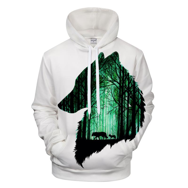 3D Forest Wolf Hoodie