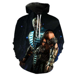 Game Mortal Kombat Hoodies - Unisex Kitana 3D Printed Sweatshirt