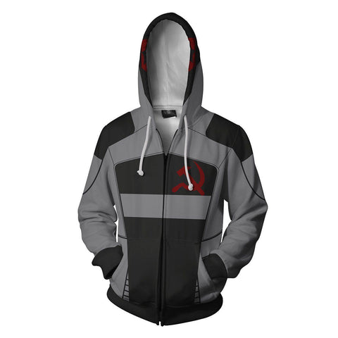 Borderlands 2 Assassin Zero Hoodies - Zip Up Cosplay Costume Hoodie