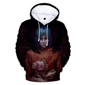 Sally Face Hoodies - Sally Face Game Series Terror Devil Mask Sally 3D Hoodie
