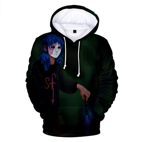 Sally Face Hoodies - Sally Face Game Series Adventure Sally Face Mask Hoodie