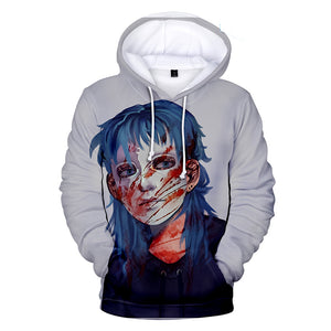 Sally Face Hoodies - Sally Face Game Series Sally Mask White Hoodie