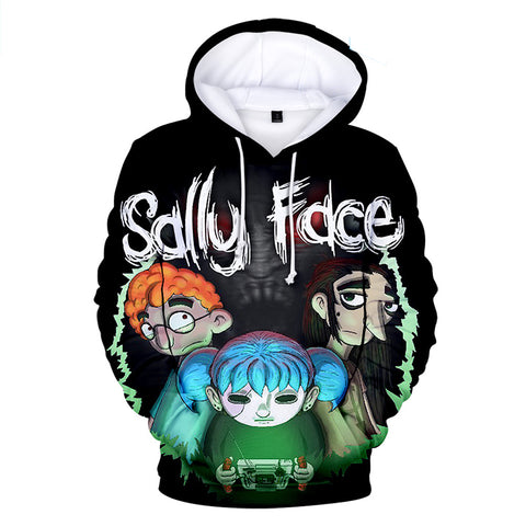 Sally Face Hoodies - Sally Face Game Series Sally Face Poster Hoodie
