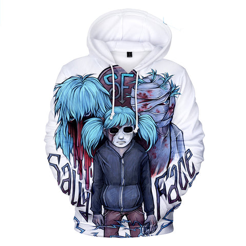 Sally Face Hoodies - Sally Face Game Series Sally Face Terror Mask Hoodie
