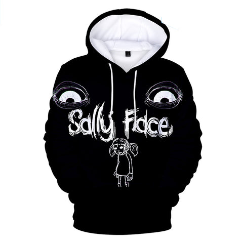 Sally Face Hoodies - Sally Face Game Series Sally Face Poster Black Hoodie