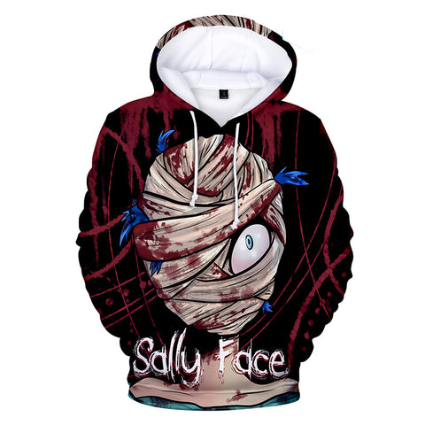 Sally Face Hoodies - Sally Face Game Series Game Character Sally Terror Hoodie