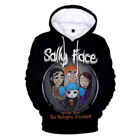 Sally Face Hoodies - Sally Face Game Series Game Character Sally Team Hoodie