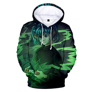 Sally Face Hoodies - Sally Face Series Game Character Sally Face Green Hoodie