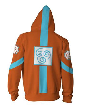 Avatar: The Last Airbender Hoodies: Zip Up Orange Hoodie
