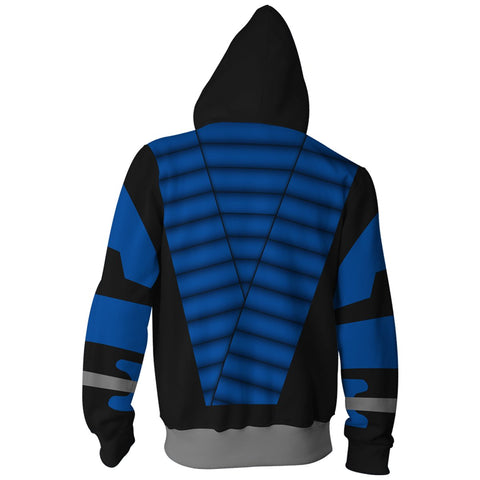 Image of Mortal Kombat Hoodies - Zip Up Subzero 3D Hoodie